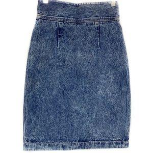 Vintage 80s 90s ZENA High Waist Denim Jean Skirt